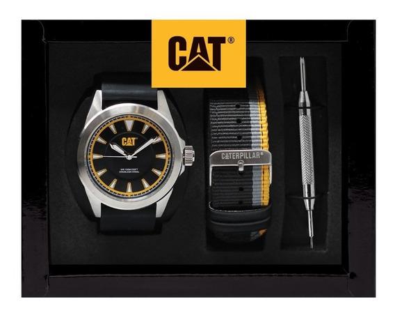 Set De Reloj Cat Para Hombre Con Correa Intercambiable