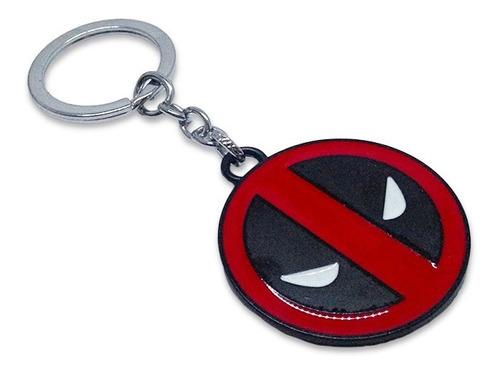 Llavero Metálico Logo Deadpool Marvel Cómics