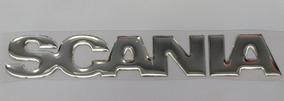 Adesivo Resinado Scania Prata Cromado Alto Relevo Carro