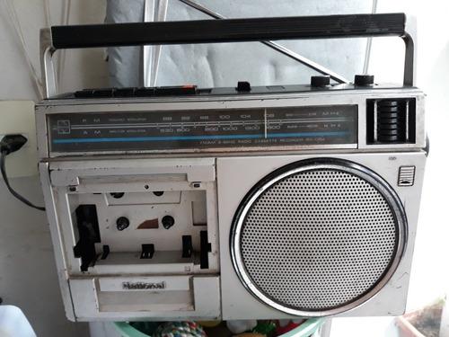 Radio Portátil Usado Toca Fita National Modelo Rx1394 Funcio