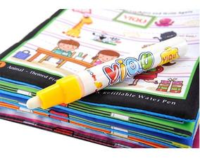 Livro Para Colorir Com Água Caneta Mágica Animais Bichinhos