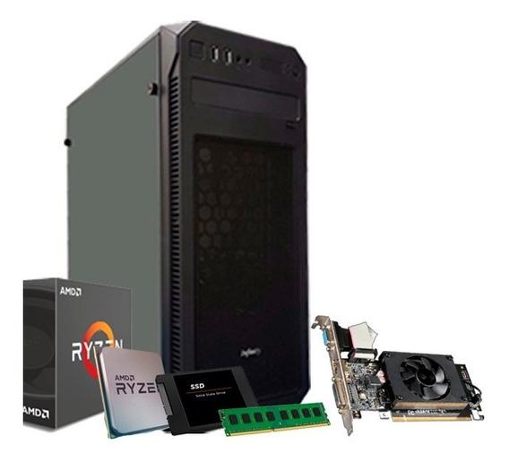 Pc Ryzen 5 1600, 8gb Ddr4, Ssd 240gb, Geforce 2gb 710gt + Nf
