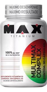 Multimax Complex 90 Cápsulas Max Titanium - Multivitamínico