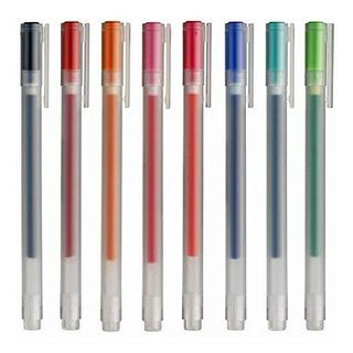 Muji Tinta Gel Bolígrafos 0.38mm 8 Colores Conjunto