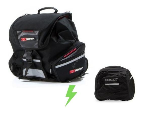 Mala Alforge Bag Baú Moto Traseira Bagageiro Expansiva Texx