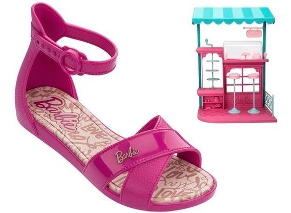 Sandália Barbie Confeitaria Grendene Infantil Rosa Promoção