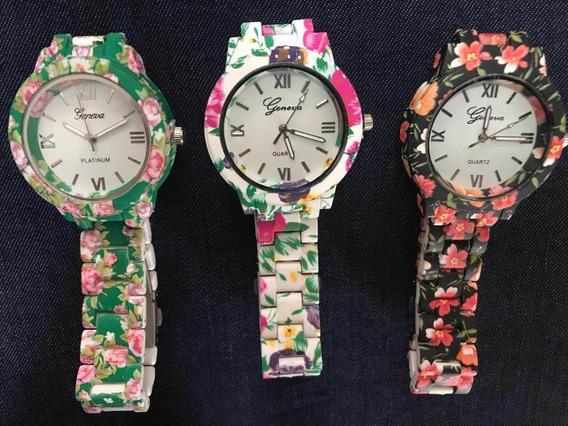 Relógios Florais Kit 3 Relógios