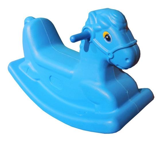 Gangorra Infantil Cavalinho Vermelho E Azul Menina Menino