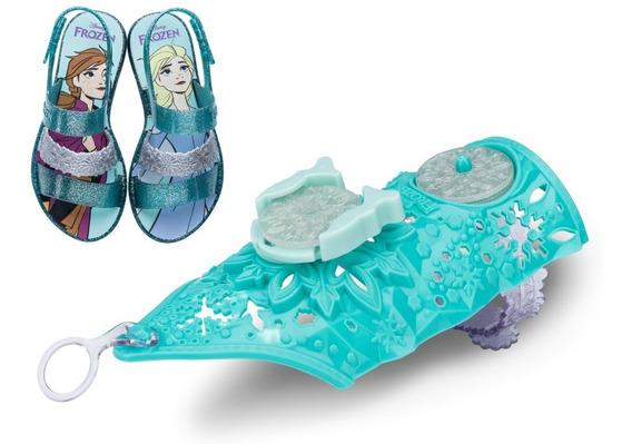 Sandália Infantil Frozen Snow Power + 1 Bracelete 22026