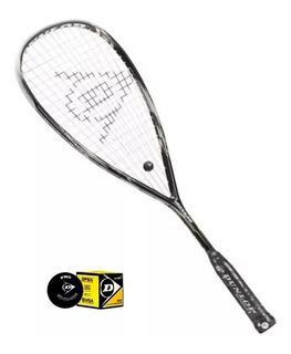 Raquete Squash Blackstorm 4d - Dunlop + Bola