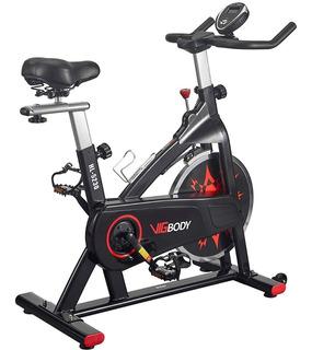 Vigbody Bicicleta Estatica Spinning Correa Resiste 150 Kilos