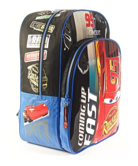 Mochila Cars Coming Up Fast Azul 16