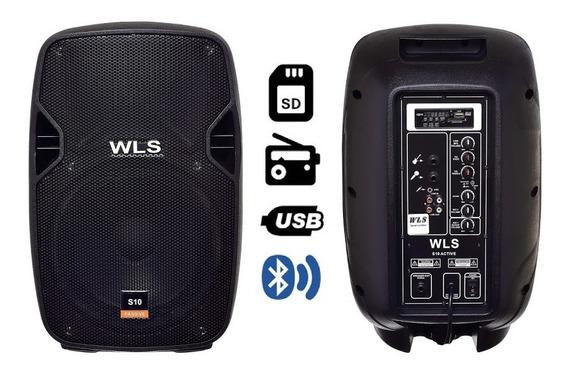 Caixa De Som S10 Wls Áudio Ativa C/ Bluetooth E Usb 10