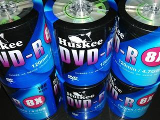 Dvd Virgen Huskee 8x 120m 4.7gb 100discos