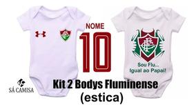 Kit Com 2 Body Infantil Personalizado Fluminense-ribana