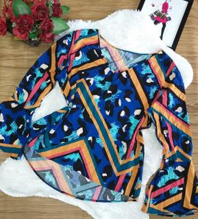 Kit 1 Blusa Plus Size Ombro A Ombro Veste Ate 52 Moda Femini