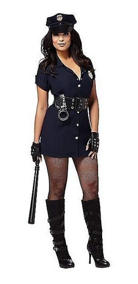 Disfraz Policia Traje Oficial Sexy Vestido Halloween
