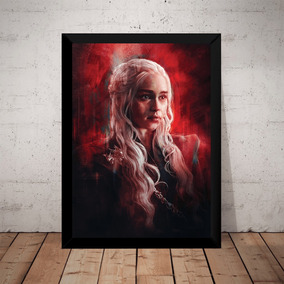 Quadro Decorativo Game Of Thrones Daenerys Targaryen Arte
