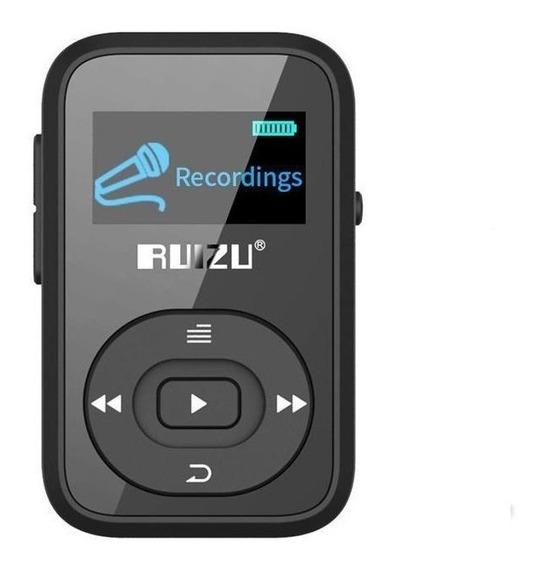 Ruizu X26 8 Gb Tela Mp3 Player Music Player Suporte Rádio Fm