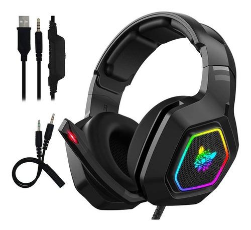 Diadema Headset Gamer Pc Ps4 Xbox Luz Led Onikuma K10