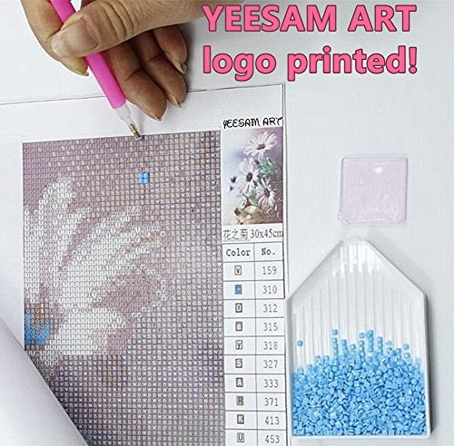/DIY cristales diamantes de imitaci/ón pintura pegado pintura por n/úmero kits de punto de cruz contado YEESAM Art nuevo 5d Diamond Kit de Pintura Dise/ño de tigre beb/é/