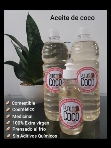 Aceite De Coco Extra Virgen Organico Extraido Al Frio