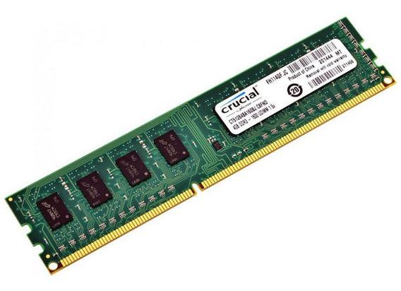 Memoria Ram 4gb 1600mhz Ddr3 1600 Crucial Pc Full H4rd