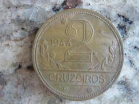 Moeda 2 Cruzeiros 1944 Verso Brasil - Cod.07/10/17-857