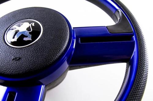 Imagen 1 de 5 de Volante Deportivo Rallye Peugeot 106/206/207/306 Azul