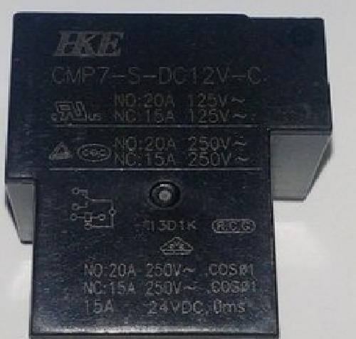 Imagen 1 de 2 de Relay Rele 12v 20a 1 Inversor 250v Tipo T Cmp7-s-dc12v-c