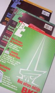 3 Revistas Brazila Esperantisto - Esperanto. Super Barato!