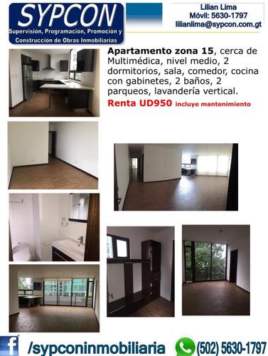 Apartamento Zona 15 Cerca De Multimédica