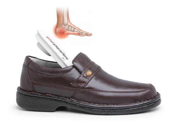 Sapato Magnético Em Couro Conforto Ativa Circulação Alívio Nas Dores Esporão Com Imãs E Infra Vermelho Longo Belloboy