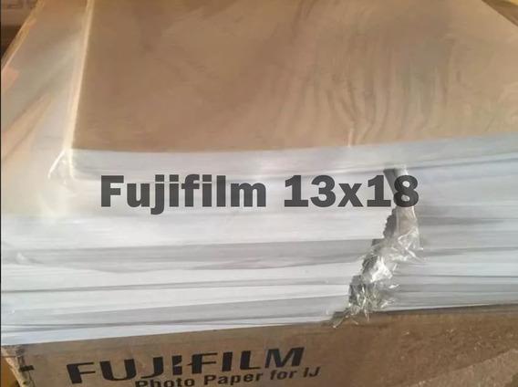 Papel Original Fujifilm Marca Dágua Inkjet 100 Folhas 13x18