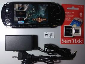 Psp Original Playstation Desbloqueado 153 Jogos Semi Nv 64gb