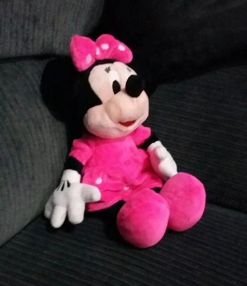 Boneco Pelúcia Minnie Mouse M Rosa 30 Centímetros