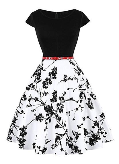 Vestido De Verano Con Cuello En V Estampado Floral De Limón