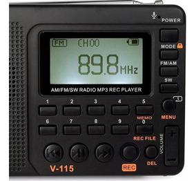 Rádio Am Fm Sw Mp3 Retekess V-115 Novo Lacrado