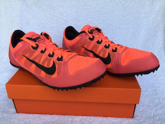 Zapatillas De Atletismo C/clavos. Negra Y Naranja