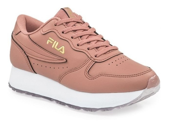 Zapatillas Fila Euro Jogger Wedge Cuero Dama Moda Urbano!! @