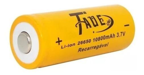 Bateria 26650 3,7v 10800mah Recarregável Para Lanternas