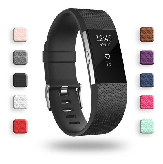 Malla De Reloj Fitbit Charge 2, Classic Y Special Edi Negro