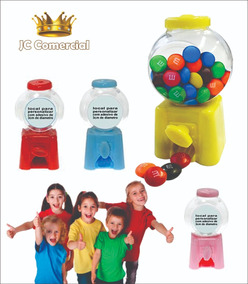 Mini Baleiro Candy Machine 10 Cm Altura Kit Com 50 Unid