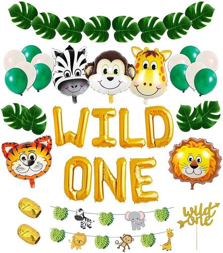 Kit De Decoracion De Cumpleaños Wild One: Decoraciones De