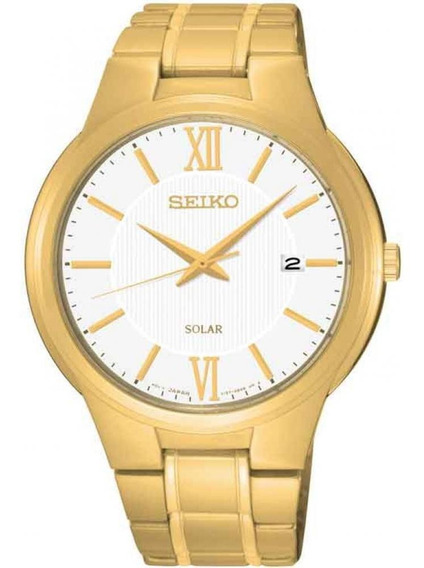 Relógio Seiko Solar Sne390b1 Dourado