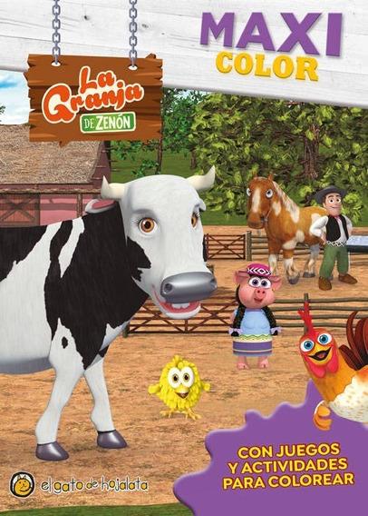 Granja Zenon Maxi Color Libro Para Niños Para Colorear 2273