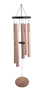 Campana De Viento 5 Tubos 95cm Wind Chime Apariencia Madera