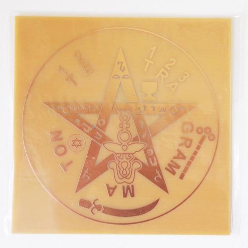Imagem 1 de 3 de Placa Tetragrammaton M - Gráfico Em Cobre