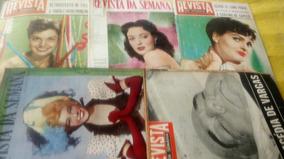 Revista Da Semana Ano 1951,1952 E 1953 Pacote Com 5 Revistas