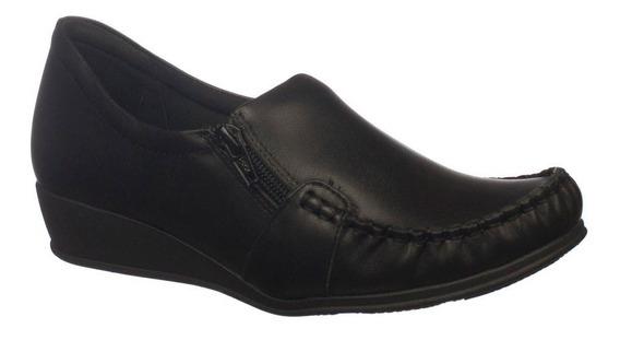 Sapato Feminino Branco Comfortflex 1793403 Couro Legítimo